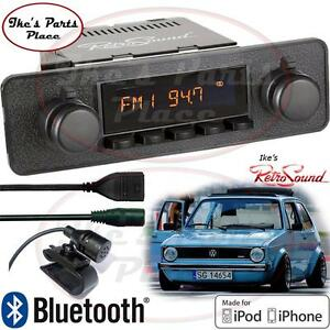 Retrosound Vw Rab golf Model 2 b Radio bluetooth ipod usb 3 5mm Aux in For Ipod