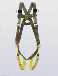 3 Dee Safety Harness Saddle W tongue Leg Buckles one Size Fits Most m 2xl