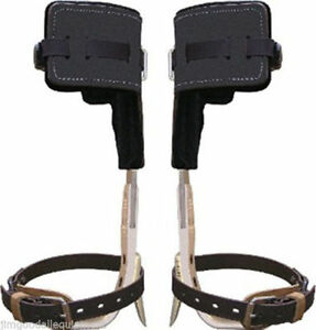 Climb Right Aluminum Tree Climbers Spur Set W strap t Pads short Palm Tree Gaffs