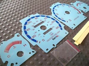 1990 1993 Acura Integra Cluster White Face Glow Through Gauges Mt Or At Blue