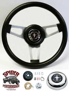 1970 1973 Mustang Steering Wheel Pony 13 3 4 Silver Spoke