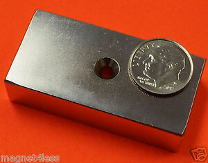 24 Rare Earth Neodymium Magnets 2 x1 x1 2 8 Dual Sided Countersunk Hole N42