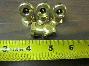 Lot Of 25 Inustrial Tool Solid Brass Tire Chuck Inflator 1 4 Npt M type Bb 4101