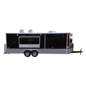 Concession Trailer 8 5 x24 Black Food Custom Vending Catering