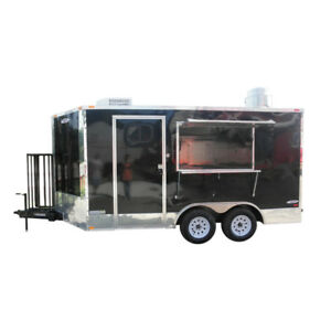 Concession Trailer 8 5 x14 Black Catering Event Food Vending