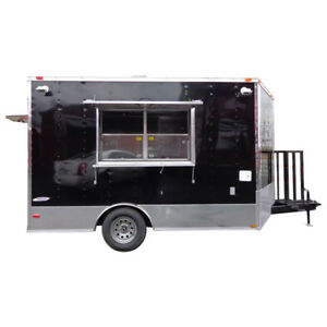 Concession Trailer 8 5 x12 Black Food Catering Event Vending
