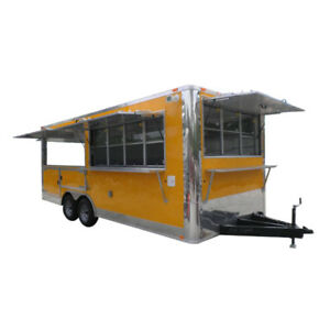 Concession Trailer 8 5 x20 Yellow Vending Food Event Catering