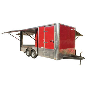 Concession Trailer 8 5 X 18 Red Food Event Catering Vending