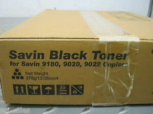Savin 4372 Black Toner For Savin 9180 9020 9022 Copier Pack Of 4