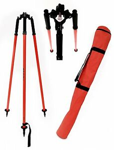 Adirpro Thumb Release Surveying Red Prism Pole Tripod Total Station gps topcon