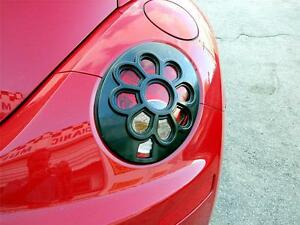 06 10 Vw Volkswagen Beetle Daisy Flower Tail Light Paintable Black 2pc Covers