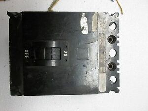 Sqd Square D 50 Amp Circuit Breaker Fal36050 W shunt Trip Tested Working