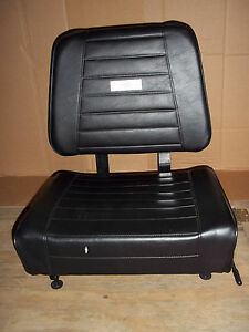 8q7562 Caterpillar Forklift Seat W switch 18 3 4x15 3 4 Adjustable Mount