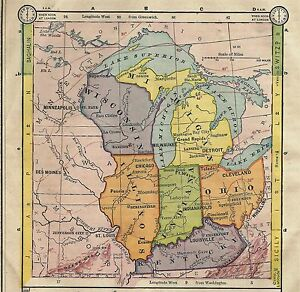 1896 Map Of Midwest United States