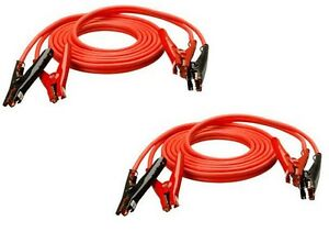 2 Coleman 08660 tv 04 20 Ft 4 Ga 500 Amp Red Auto Truck Booster Jumper Cables
