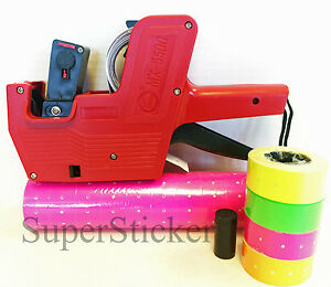 Mx 5500 8 Digits Price Tag Gun Labeler Labeller Plus 5000 Pink Labels free Gift