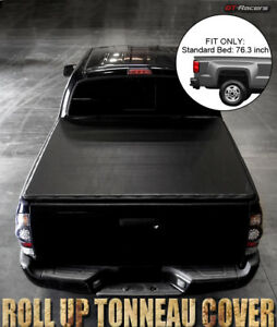 Lock Roll Soft Tonneau Cover For 2009 2019 Dodge Ram 1500 2500 6 5 Ft 76 Bed