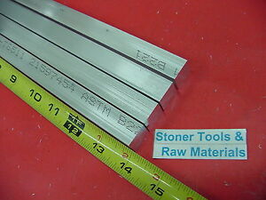 4 Pieces 1 2 X 1 Aluminum 6061 Flat Bar 14 Long T6511 New Extruded Mill Stock
