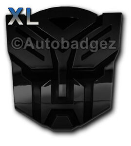 3 Xl Transformers Autobot Optimus Prime Auto Badge Emblem Gloss Black
