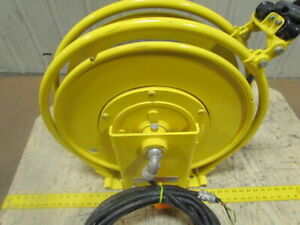Aero motive Retractable Electric 12 3 Cable Reel 85 110v Cord 20a 600v 3 ring