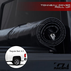 Lock Roll Soft Tonneau Cover 2007 2014 Silverado sierra Truck 6 5 78 Cab Bed