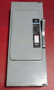 O Siemens 200 Amp Safety Switch F354 600 Vac Disconnect Ff