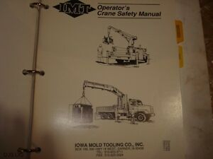 Mid 1990 s Imt Crane Operators Parts Service Operation Manual Bm224