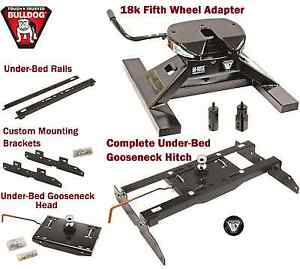 Bulldog Underbed Gooseneck Trailer Hitch 18k 5th Wheel Adapter 94 02 Dodge Ram