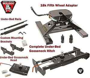 Bulldog Underbed Gooseneck Trailer Hitch 18k 5th Wheel Adapter 99 16 F250 F350