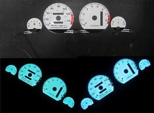 94 01 Acura Integra At Automatic Ls Rs Gs White Face Glow Gauges 8k Blue