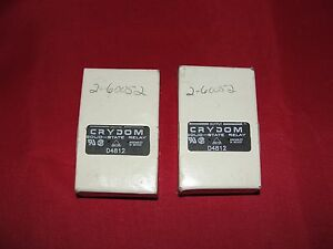 Crydom D4812 Solid state Relay Lot Of 2 New In Box