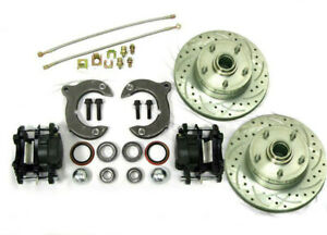 Mustang Ii Front Disc Brake Kit W 11 Plain Chevy Rotors No Spindles Ss Lines