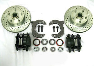 Mustang Ii 2 Front Disc Brake Conversion Kit 11 Slotted Ford Rotors No Spindle