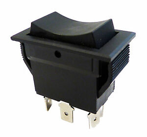 Rocker Switch On Off On Momentary Snap In Dpdt 20a Up To 30a 30 Amp Use