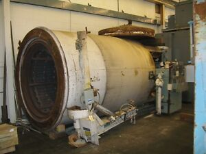 Heat Treating Furnace Pit Type Steam Tempering Leeds Northrup 1250 F Draw