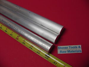 3 Pieces 1 Aluminum 6061 Round Rod 36 Long Solid T6511 1 000 Lathe Bar Stock