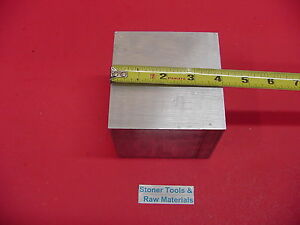 4 X 4 Aluminum 6061 Square Solid Bar 3 5 8 Long T6511 Flat Stock Mill