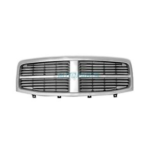 New Front Grille Chrome And Black Fits 2004 2006 Dodge Durango Ch1200274