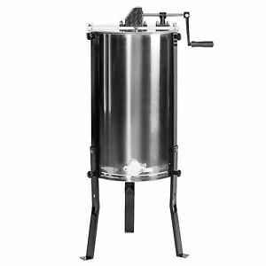 New Large Three 3 Frame Stainless Steel Honey Extractor Ss Vivo Model Bee v003d