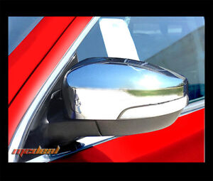 For 2013 2015 Ford Escape focus Tripe Chrome Mirror Covers With Turn Signal