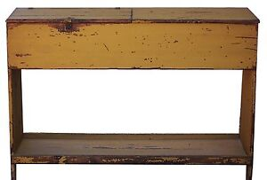 Primitive Kitchen Island Rustic Table Distressed Pine Painted Country Farmhouse