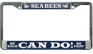 Us Navy Seabees High Quality Metal License Plate Frame Made In The Usa