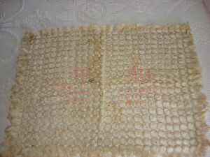 Antique Chenille Thread Doily Mat 24 By 18