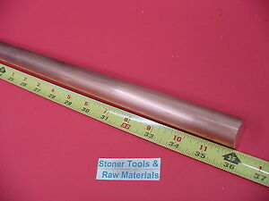 1 C110 Copper Round Rod 36 Long H04 Solid 1 00 Od Cu New Lathe Bar Stock