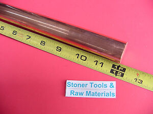 1 C110 Copper Round Rod 12 Long H04 Solid 1 00 Od Cu New Lathe Bar Stock