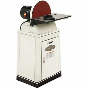 Shop Fox W1815 15 Disc Sander W brake Free Shipping