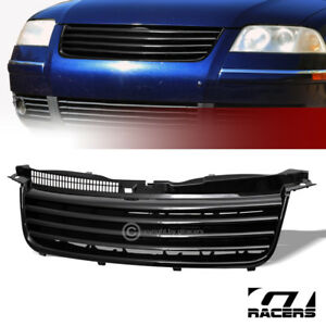 For 2001 2005 Vw Passat B5 5 Black Horizontal Front Hood Bumper Grille Guard Abs