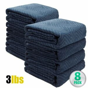 8pc Moving Blankets Bundle 72x80 Econo Professional Quilted Moving Pads Packing
