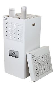 Adiroffice Upright Roll File 16 Compartment Storage Container