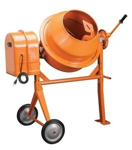 Electric Cement Mixer 1 3 Hp 3 5 Cubic Ft 10 7 Amps 36 Rpm 110 Volts